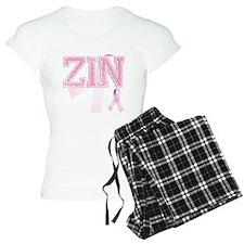 ZIN initials, Pink Ribbon, Pajamas