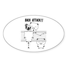 volleyball back attack Decal