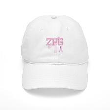ZFG initials, Pink Ribbon, Baseball Cap