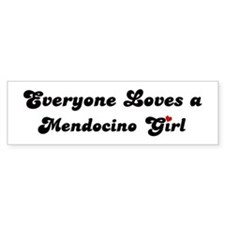 Mendocino girl Bumper Bumper Sticker