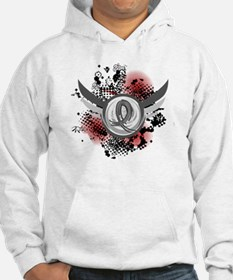 Wings and Ribbon Brain Cancer Hoodie