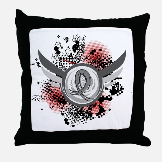 Wings and Ribbon Brain Cancer Throw Pillow