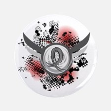 "Wings and Ribbon Brain Cancer 3.5"" Button"