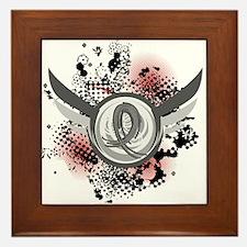Wings and Ribbon Brain Cancer Framed Tile