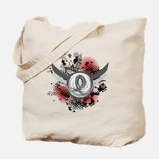 Wings and Ribbon Brain Cancer Tote Bag