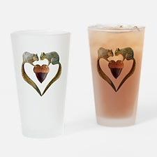 Love Squirrels Drinking Glass