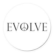 Evolve Peace Perpetua Round Car Magnet