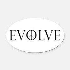 Evolve Peace Perpetua Oval Car Magnet