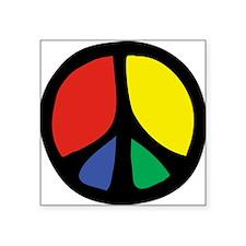 "IrregularPeaceSign.png Square Sticker 3"" x 3"""