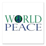 World Peace Square Car Magnet 3