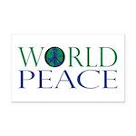 World Peace Rectangle Car Magnet