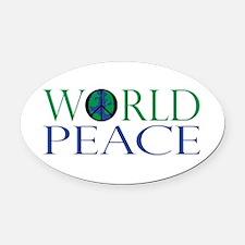 World Peace Oval Car Magnet