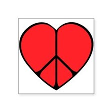 "new peace heart copy.png Square Sticker 3"" x 3"""