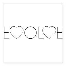 "Evolve Love II.png Square Car Magnet 3"" x 3"""