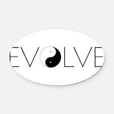 Evolve Balance.png Oval Car Magnet