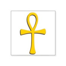 "Golden ankh.png Square Sticker 3"" x 3"""