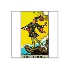 """The Fool.png Square Sticker 3"""" x 3"""""""