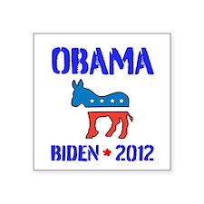 "Obama Biden 2012 Square Sticker 3"" x 3"""