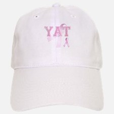 YAT initials, Pink Ribbon, Baseball Baseball Cap