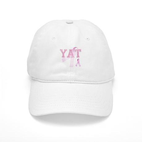 YAT initials, Pink Ribbon, Cap