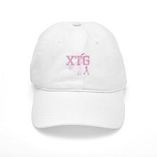 XTG initials, Pink Ribbon, Baseball Cap