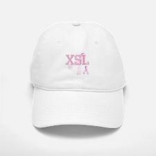 XSL initials, Pink Ribbon, Baseball Baseball Cap