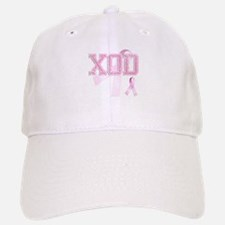 XOD initials, Pink Ribbon, Baseball Baseball Cap