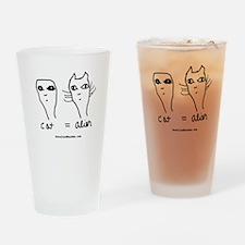Cat = Alien Drinking Glass
