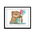 Boo Boo Birthday Bear 1 Framed Panel Print
