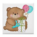 Boo Boo Birthday Bear 1 Tile Coaster