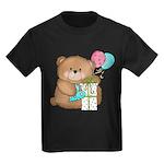 Boo Boo Birthday Bear 1 Kids Dark T-Shirt