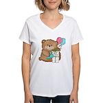 Boo Boo Birthday Bear 1 Women's V-Neck T-Shirt