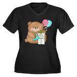 Boo Boo Birthday Bear 1 Women's Plus Size V-Neck D