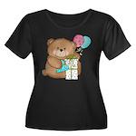 Boo Boo Birthday Bear 1 Women's Plus Size Scoop Ne