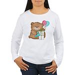 Boo Boo Birthday Bear 1 Women's Long Sleeve T-Shir