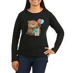 Boo Boo Birthday Bear 1 Women's Long Sleeve Dark T