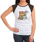 Boo Boo Birthday Bear 1 Women's Cap Sleeve T-Shirt