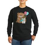 Boo Boo Birthday Bear 1 Long Sleeve Dark T-Shirt