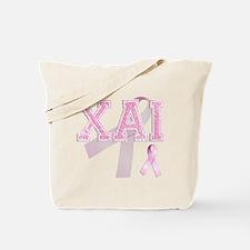 XAI initials, Pink Ribbon, Tote Bag