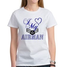 I Love My Airman women's shirt