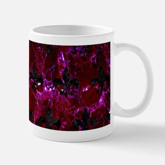 ROYAL1 BLACK MARBLE & BURGUNDY M Small Mug