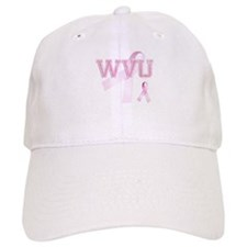 WVU initials, Pink Ribbon, Hat