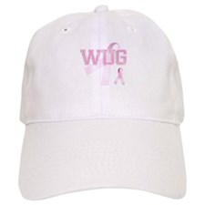 WUG initials, Pink Ribbon, Baseball Cap