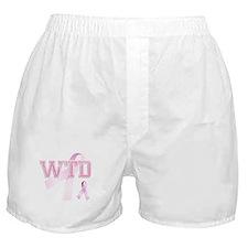 WTD initials, Pink Ribbon, Boxer Shorts
