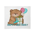 Boo Boo Bear Birthday 1 Throw Blanket