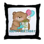 Boo Boo Bear Birthday 1 Throw Pillow