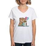 Boo Boo Bear Birthday 1 Women's V-Neck T-Shirt