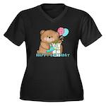 Boo Boo Bear Birthday 1 Women's Plus Size V-Neck D