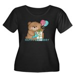Boo Boo Bear Birthday 1 Women's Plus Size Scoop Ne