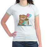 Boo Boo Bear Birthday 1 Jr. Ringer T-Shirt
